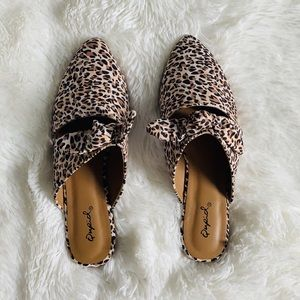 Qupid Shoes - Leopard Print Mules